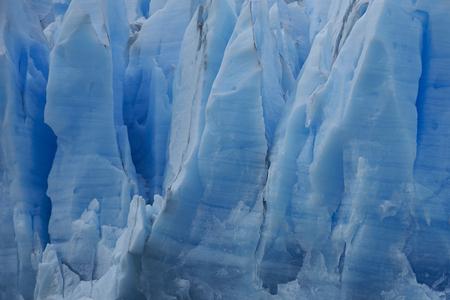 magallanes: Blue ice of Glacier Grey flowing into Lago Grey in Torres del Paine National Park, Magallanes, Chile