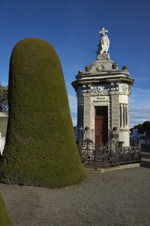 PUNTA ARENAS, CHILE - AUGUST 27, 2016: Historic cemetery of Punta Arenas in the Magallanes Region of southern Chile