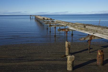strait of magellan: Historic waterfront of Punta Arenas running along the Magellan Strait in Patagonia, Chile