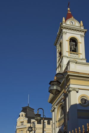 Historic Cathedral of Punta Arenas, a small city on the Strait of Magellan in Magallanes Region of Chile