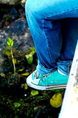 converse: blue converse