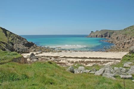 cornish: Secluded Cornish beach, England Stock Photo