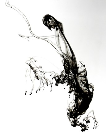 Indian ink in water with a white back ground. Stock Photo - 8102146