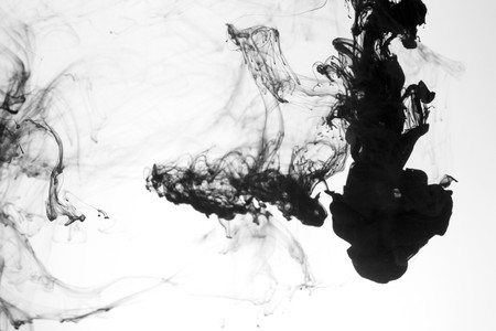 Indian ink in water with a white back ground. Stock Photo - 8102726