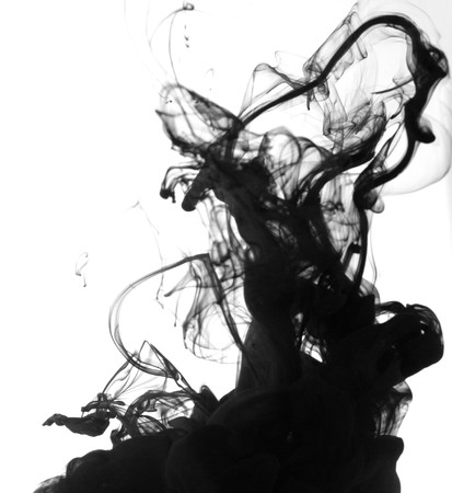 black liquid: Indian ink in water with a white back ground.