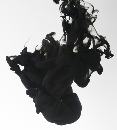 drop water: Indian ink in water with a white back ground.