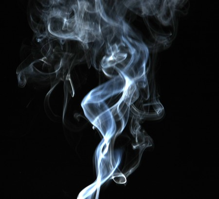Smoke with a black background. Abstract element to help your design 版權商用圖片 - 8102390