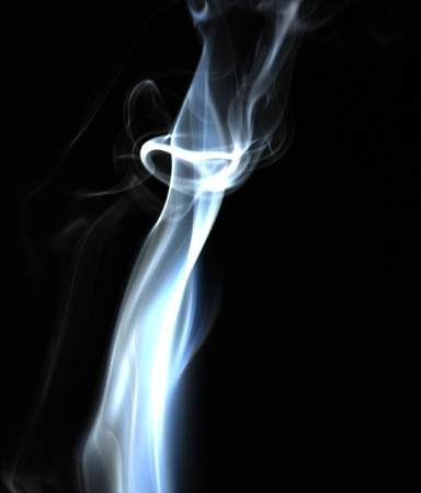Smoke with a black background. Abstract element to help your design