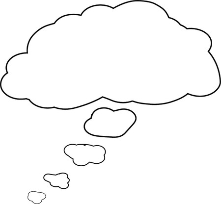 Thought or speech bubble. Could be used as a text space or in a comic strip 版權商用圖片 - 8102144