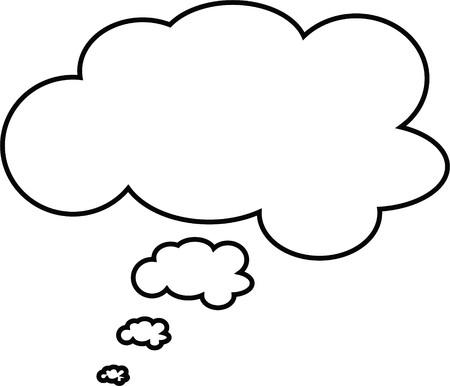 Gedanken oder Rede Blase. Könnte als Text Leerzeichen oder in einem Comic-Strip verwendet werden Standard-Bild