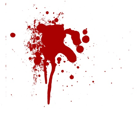 blood splatter red horror bloody gore drip murder violence Stock Photo