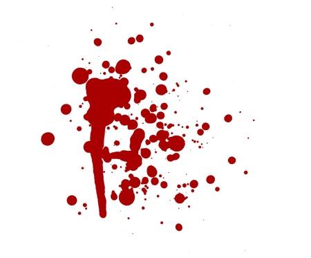 spattered: blood splatter red horror bloody gore drip murder violence Stock Photo