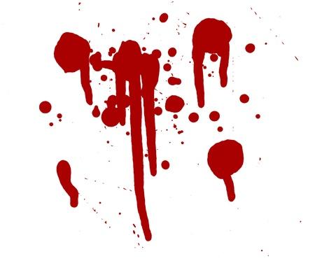 stain: blood splatter red horror bloody gore drip murder violence Stock Photo