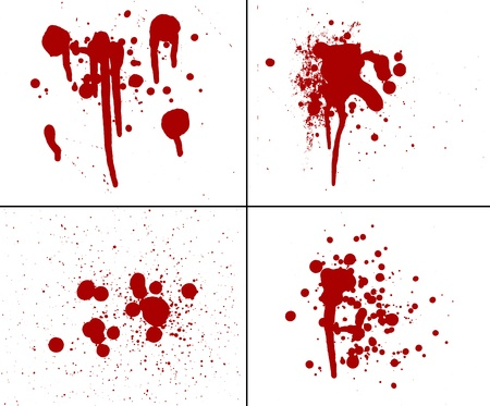 spatter: blood splatter red horror bloody gore drip murder violence Stock Photo