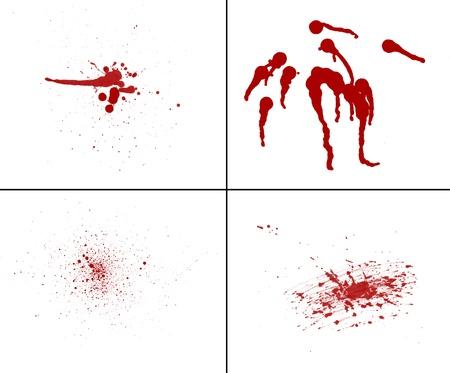bloodstains: blood splatter red horror bloody gore drip murder violence Stock Photo