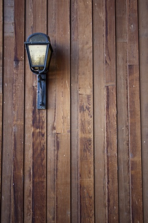 bank owned: great wood texture with a light. weathered Stock Photo