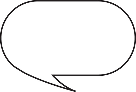 comic bubble: Thought or speech bubble. Could be used as a text space or in a comic strip Stock Photo