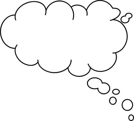 thought: Thought or speech bubble. Could be used as a text space or in a comic strip Stock Photo