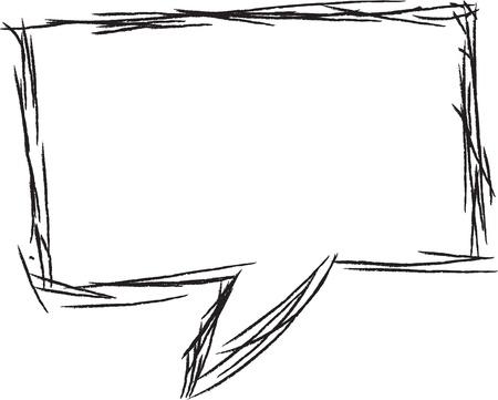 speech bubble: Bulle de pens?e ou de la parole. Pourrait ?tre utilis? comme un espace de texte ou dans une bande dessin?e