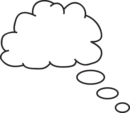 could: Thought or speech bubble. Could be used as a text space or in a comic strip Stock Photo