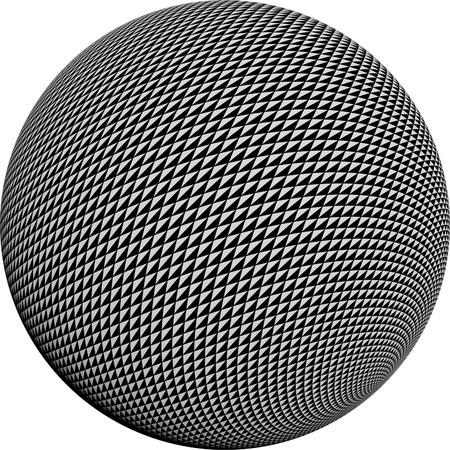 Round half tone images - round black white pattern design