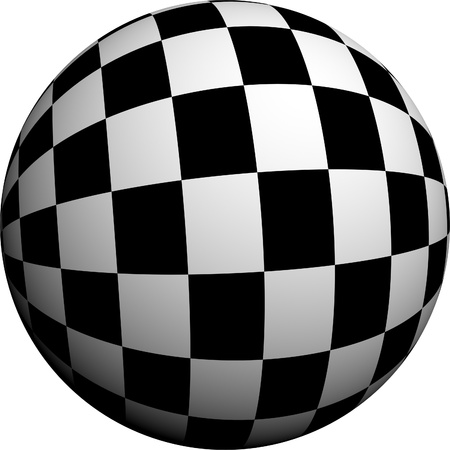 shiny black: Round half tone images - round black white pattern design