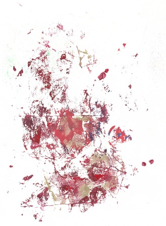 blood transfer: Mixed media. Great for urban designs and trendy designs.