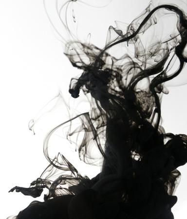 Smoke liquid ink in water 版權商用圖片 - 9895331