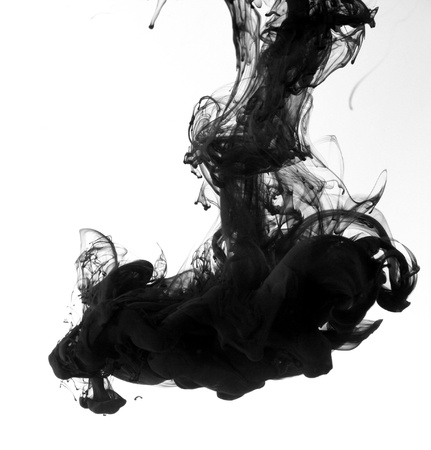 Fumée encre liquide dans l'eau Banque d'images - 9895808