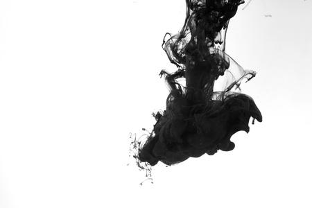 Smoke liquid ink in water 版權商用圖片 - 9895314