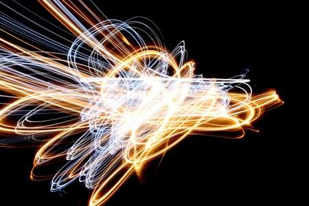 abstract light lines on a black background photo