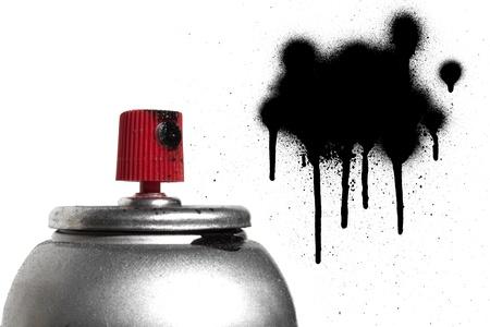 Graffiti spray paint can photo