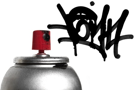 aerosol can: Graffiti spray paint can