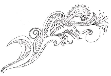 hand drawn paisley designs Stock Photo - 9895621