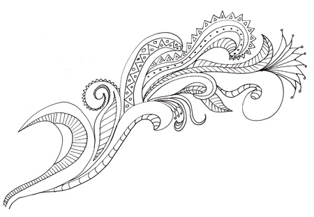 hand drawn paisley designs Stock Photo - 9895621