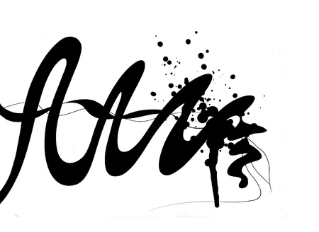 Lines and Splattered ink Stock fotó