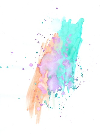 watercolor splash: Water color grunge Stock Photo