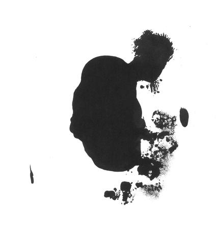 Black inkl splatter
