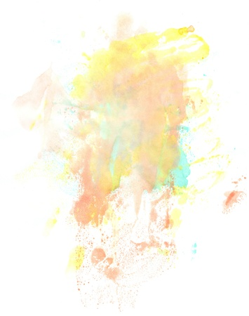 Water color paint splatter