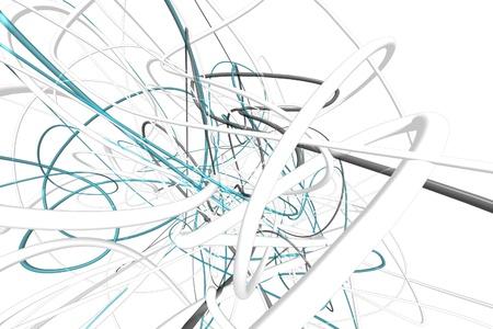 Abstract 3d lijnen Stockfoto - 10625460