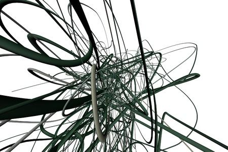 Abstract 3d lijnen Stockfoto