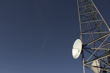 wireless tower: Radio cell antenna tower. Stock Photo