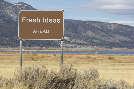 ides: A road sign that is motivational and great for presentations and speeches.