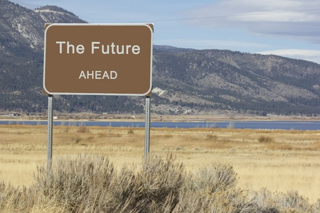 A road sign that is motivational and great for presentations and speeches.