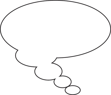 Thought or speech bubble. Could be used as a text space or in a comic strip Stock fotó