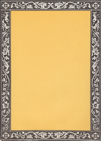 art product: A nice vintage border. High resolution image. Great for scrap booking, photo albums, or just design elements for your design. High quality scan is from a book published over 100 years ago.