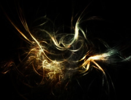 Abstract flowing wisp. colored smoke style.