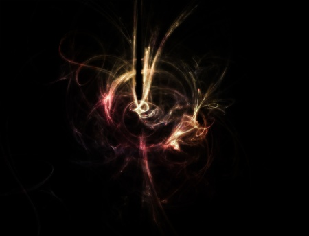 zero gravity: Abstract flowing wisp. colored smoke style.