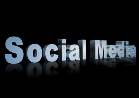 3d text that says social media Stock Photo
