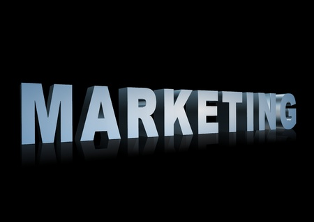 3d text that says Marketing. great for business presentations.